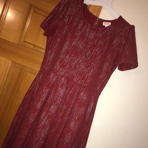 Dark red and sparkly elegant Amelia- M